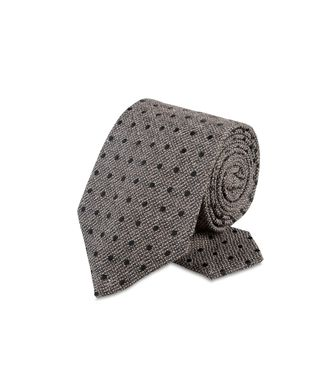 ERMENEGILDO ZEGNA: Tie Red - Maroon - Grey - Ivory - Slate blue - Dark brown - 46303547AJ