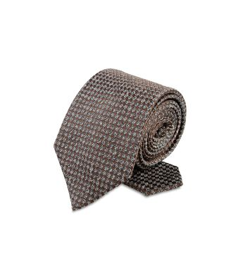 ERMENEGILDO ZEGNA: Tie Red - Maroon - Grey - Ivory - Slate blue - Dark brown - 46303547EV