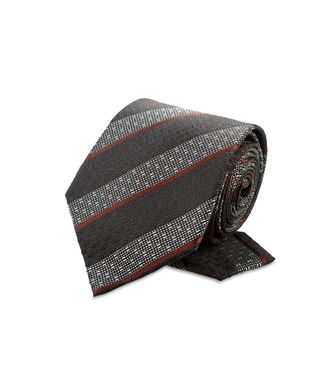 ERMENEGILDO ZEGNA: Cravate Bordeaux - Gris - Anthracite - Marron - Moka - 46303547HC