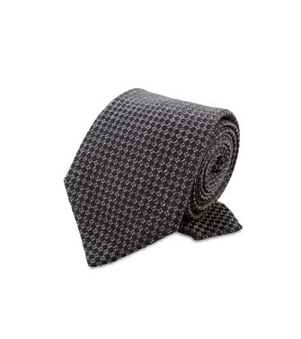 ERMENEGILDO ZEGNA: Cravate Bordeaux - Gris - Anthracite - Marron - Moka - 46303547MU