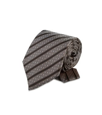 ERMENEGILDO ZEGNA: Tie Maroon - Grey - Steel grey - Brown - Dark brown - 46303547OJ