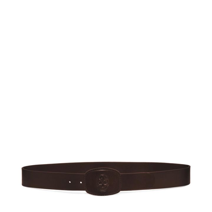 Alexander McQueen, Leather 3D Skull Buckle Belt