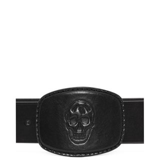 ALEXANDER MCQUEEN, Belt, Leather 3D Skull Buckle Belt