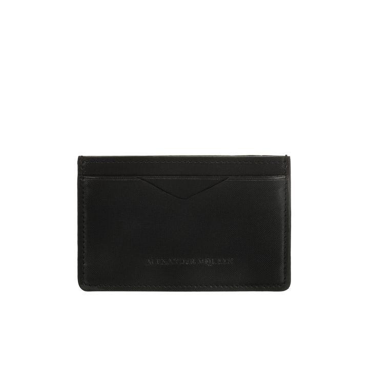 Alexander McQueen, Porta Carte di Credito in Pelle con Rete Fluo