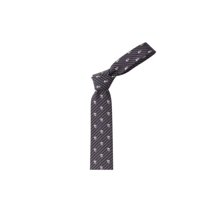Alexander McQueen, Diagonal Skull Stripe Tie