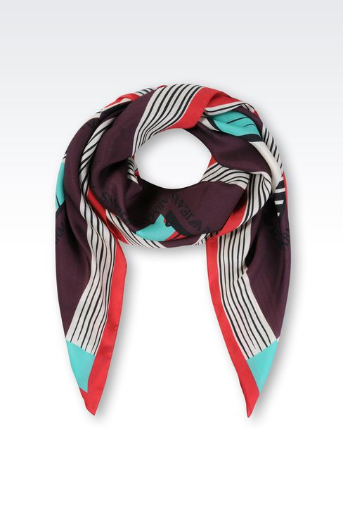 PRINTED SILK SCARF: Foulards Women by Armani - 1