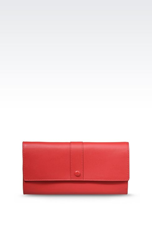 CONTINENTAL WALLET IN LEATHER: Wallets Women by Armani - 1