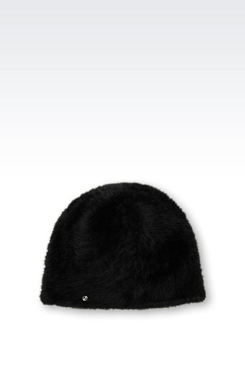 ANGORA HAT: Hats Women by Armani - 1