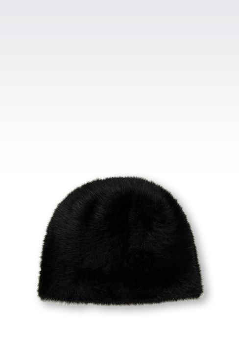 ANGORA HAT: Hats Women by Armani - 2