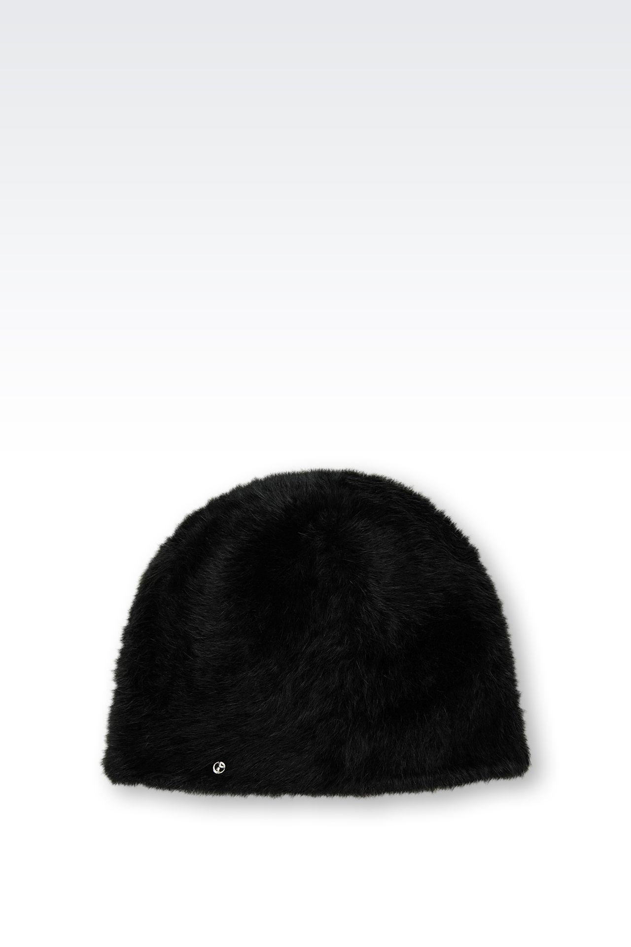 ANGORA HAT: Hats Women by Armani - 0