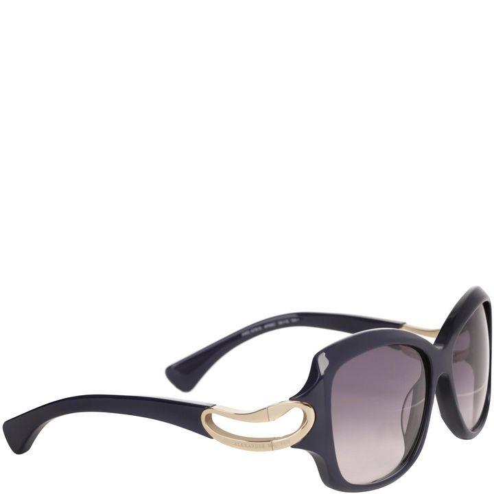Alexander McQueen, Square Framed Soft Curve Sunglasses