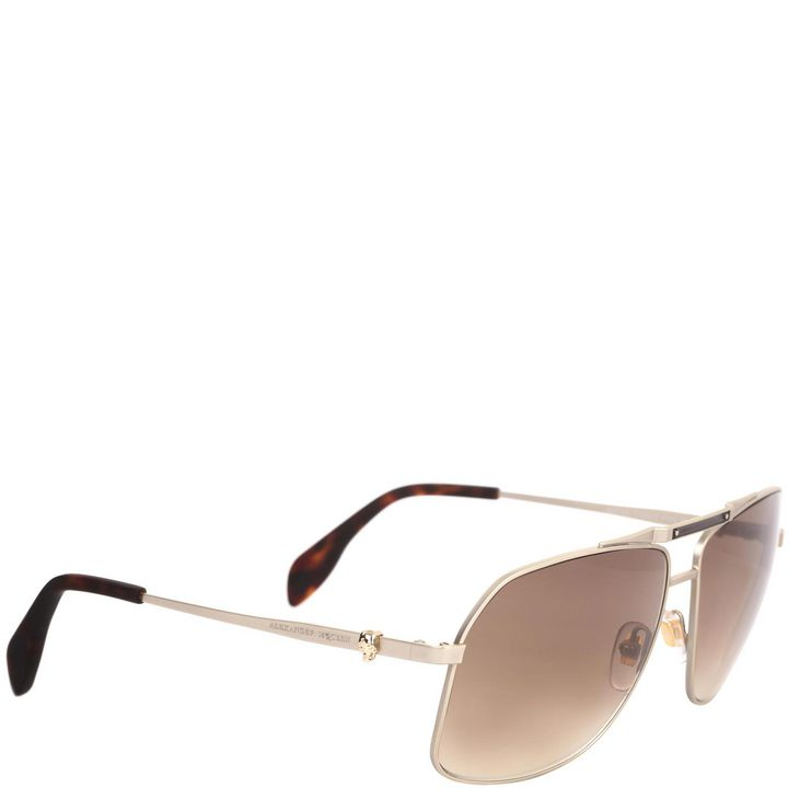 Alexander McQueen, Skull Icon Double Bridge Aviators