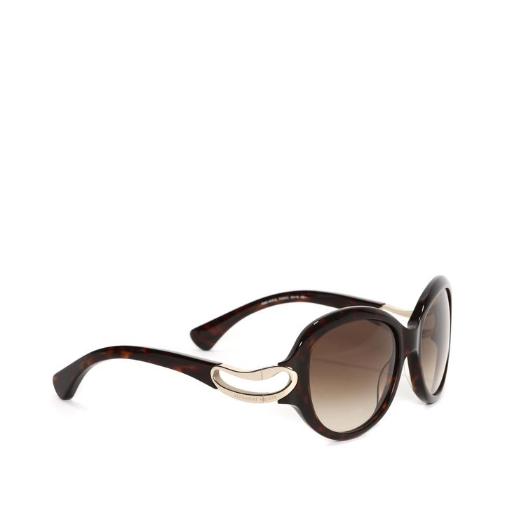 Alexander McQueen, Round Framed Soft Curve Sunglasses