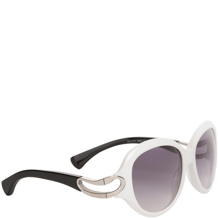 Alexander McQueen, Round Framed Soft Curve Sunglasses