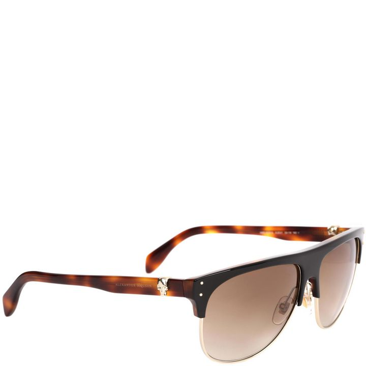 Skull icon half framed aviators