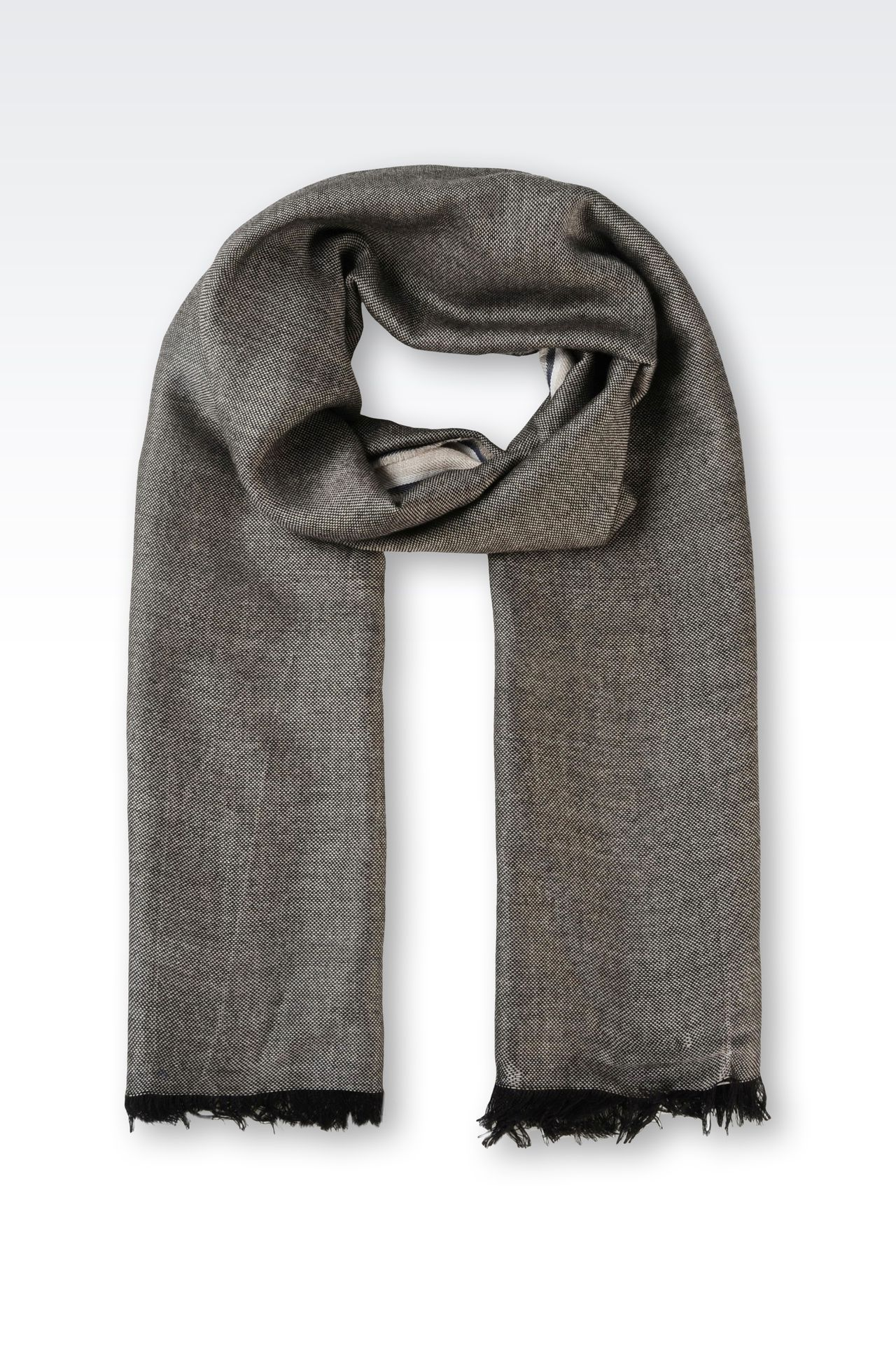 STOLE IN WOOL AND SILK: Stoles Men by Armani - 0