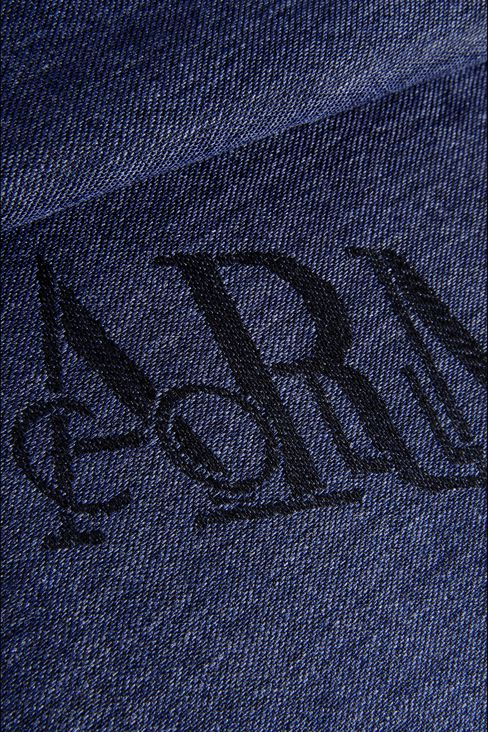SCARF IN WOOL AND VISCOSE WITH ALL OVER LOGO: Stoles Men by Armani - 3