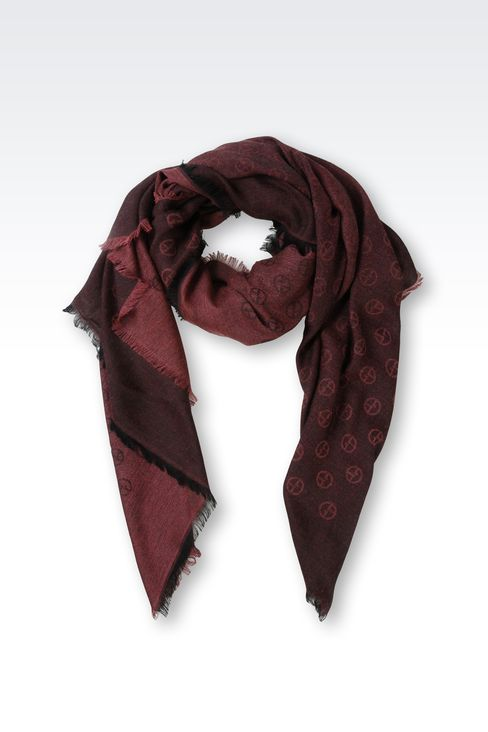 SCARF IN MODAL BLEND WITH ALL OVER LOGO: Foulards Men by Armani - 1