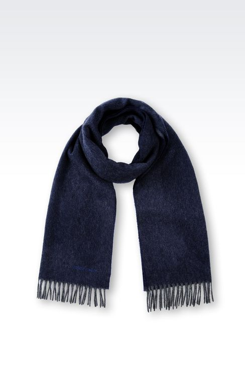 FRINGE SCARF IN CASHMERE: Scarves Men by Armani - 1