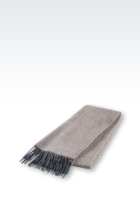 FRINGE SCARF IN CASHMERE: Scarves Men by Armani - 2