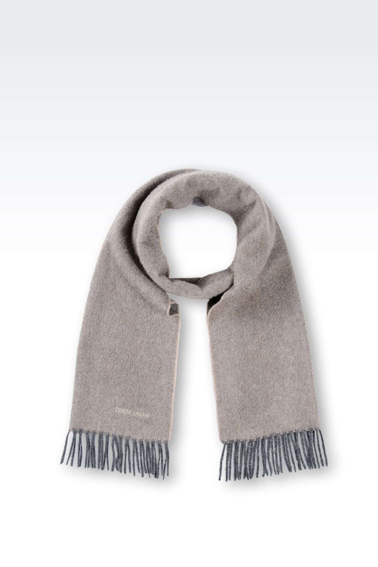FRINGE SCARF IN CASHMERE: Scarves Men by Armani - 0
