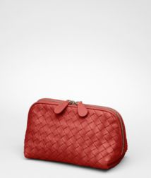 BOTTEGA VENETA - Cosmetic Cases, Brique Intrecciato Nappa Cosmetic Case