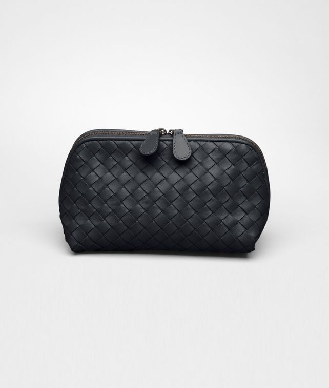 BOTTEGA VENETA Tourmaline Intrecciato Nappa Cosmetic Case Other Leather Accessory D fp