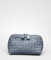 BOTTEGA VENETA - Cosmetic Cases, Krim Intrecciato Nappa Cosmetic Case