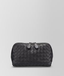 BOTTEGA VENETA - Cosmetic Cases, Nero Intrecciato Nappa Cosmetic Case