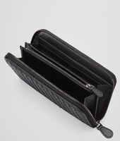 Nero Intrecciato Nappa Zip Around Wallet