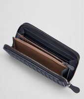 ZIP AROUND WALLET IN TOURMALINE INTRECCIATO NAPPA