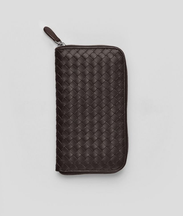 BOTTEGA VENETA Ebano Intrecciato VN Zip Around Wallet Zip Around Wallet U fp
