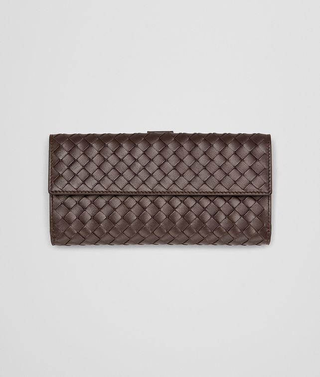 Continental Portemonnaie aus Nappaleder Intrecciato Ebano