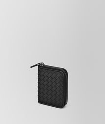 BOTTEGA VENETA - Card Cases and Coin Purses, Nero Intrecciato Nappa Coin Purse