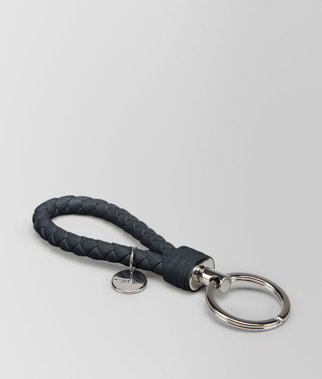 BOTTEGA VENETA KEY RING IN TOURMALINE INTRECCIATO NAPPA Keyring or Bracelets E fp
