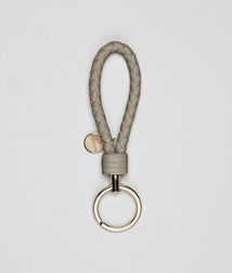 BOTTEGA VENETA - Key Rings, Fume Intrecciato Nappa Key Ring