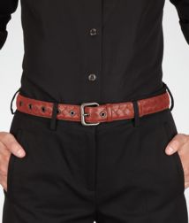 BOTTEGA VENETA - Accessories, Brique Intrecciato Nappa Belt