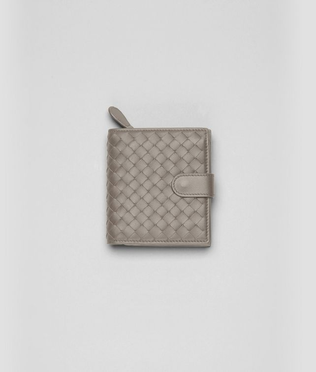 Fume Intrecciato Nappa French Flap Wallet