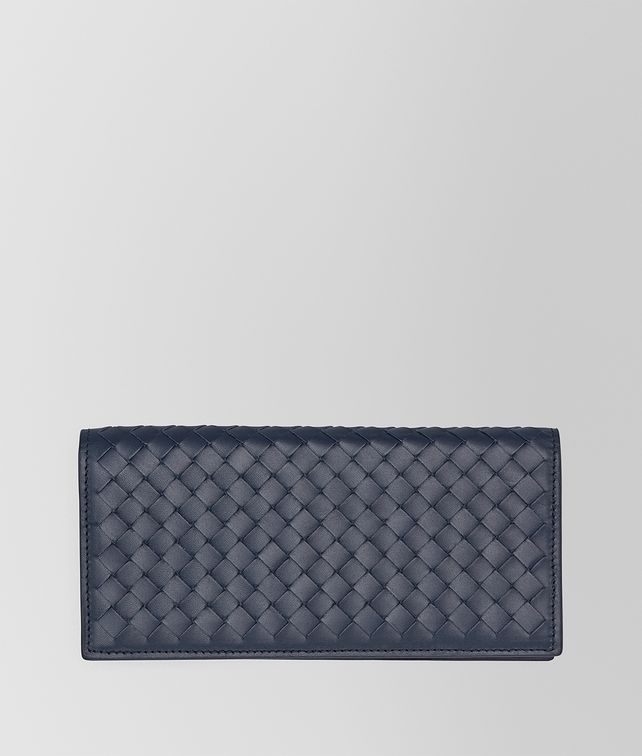 Light Tourmaline Intrecciato VN Continental Wallet
