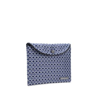 ERMENEGILDO ZEGNA: Silk accessory Slate blue - 46305584IP