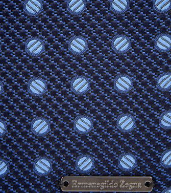 ERMENEGILDO ZEGNA: Silk accessory Blue - Grey - 46305589DJ