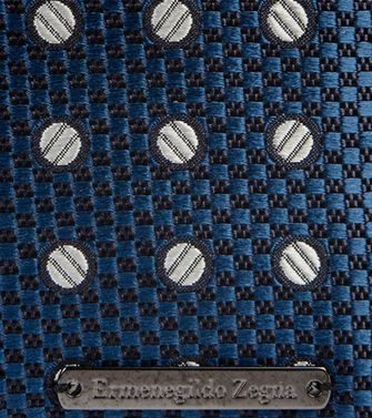 ERMENEGILDO ZEGNA: Accessorio in seta  Blu - 46305590MV