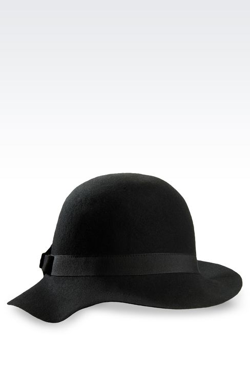 WOOL HAT WITH BOW: Hats Women by Armani - 1