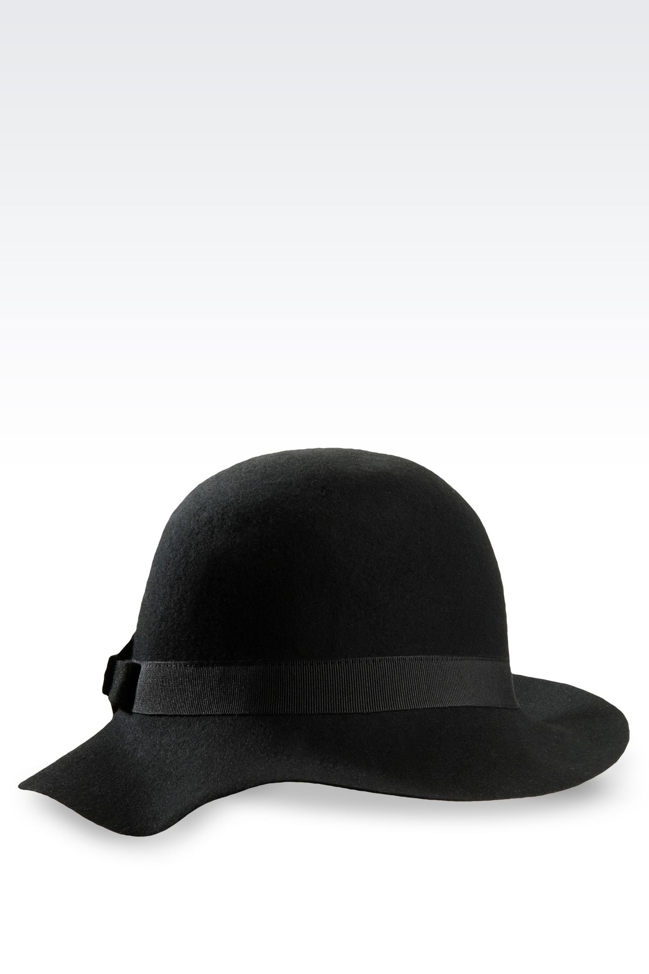 WOOL HAT WITH BOW: Hats Women by Armani - 0