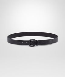BOTTEGA VENETA - Belts, Nero Light Calf Intreccio Scolpito Belt