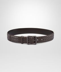 BOTTEGA VENETA - Accessories, Ebano Intrecciato Nappa Belt