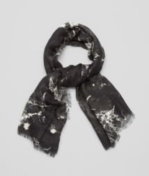 BOTTEGA VENETA - Accessories, Black White Silk Scarf