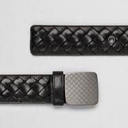 Intrecciato Waxed Vitello Laque Belt - Belt - BOTTEGA VENETA - PE13 - 470