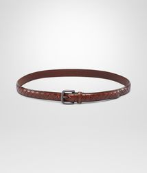 BOTTEGA VENETA - Belts, Ebano Intreccio Scolpito Belt