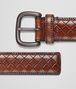 BOTTEGA VENETA BELT IN EBANO CALF Belt U rp